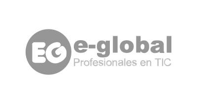 Logotipo en gris de e-Global