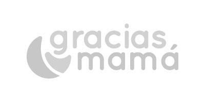Logotipo en gris de Gracias Mamá