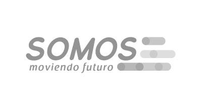 Logotipo en gris de SOMOS Moviendo Futuro