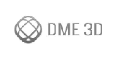 Logotipo en gris de DME 3D