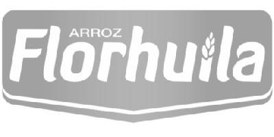 Logotipo en gris de Florhuila
