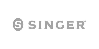 Logotipo en gris de SINGER