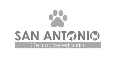 Logotipo en gris de San Antonio Centro Veterinario