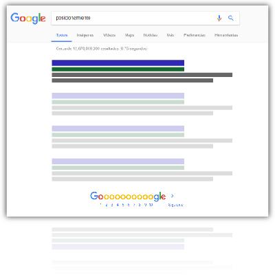 Gráfico mostrando estar en el primer puesto de Google.